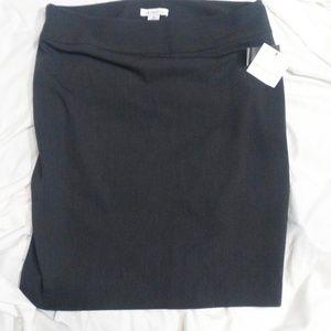 Liz Claiborne charcoal heather skirt
